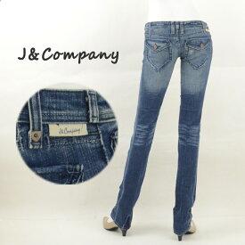 J&Company ジェイアンドカンパニー C1092GD フラップポケットレディースジーンズ デニム フレアー ブーツカット【訳有り/在庫処分】