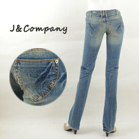 J&Company ジェイアンドカンパニー C1174 レディースジーンズ デニム フレアー ブーツカット