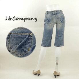 J&Company ジェイアンドカンパニー C1183 ダメージ加工ショートパンツ レディースジーンズ 半端丈