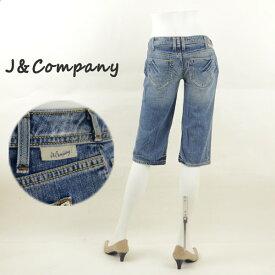 J&Company ジェイアンドカンパニー C1183SDDI ダメージ加工ショートパンツ レディースジーンズ 半端丈