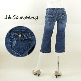 J&Company ジェイアンドカンパニー C1230OGD ダメージ加工ショートパンツ レディースジーンズ 半端丈