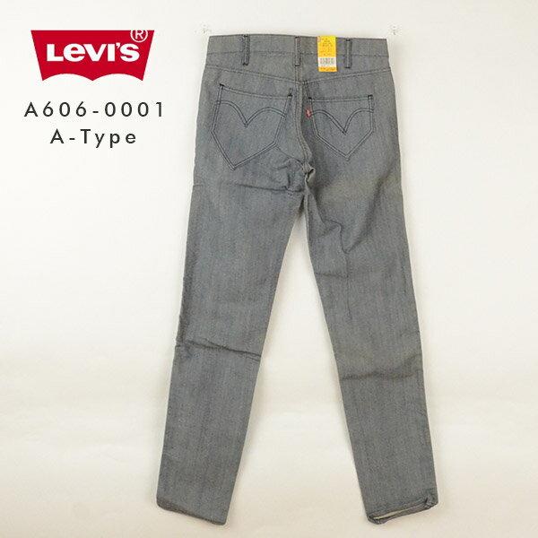 【訳有り/在庫処分】Levi's リーバイス A606-0001[□] A-Type アシメポケットスリムストレートジーンズ アメカジ メンズ 裾上げ デニム 男性