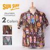 """激罕見的滯銷商品!SUN SURF太陽衝浪SS33372 PRIMO BEER""""TOTEM POLE""""棉布夏威夷襯衫短袖日本製造"""