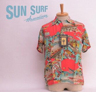 "SUN SURF太陽衝浪SS34666特別夏威夷襯衫""TENJIN MATSURI""Special Edition S/S HAWAIIAN SHIRT和睦花紋"
