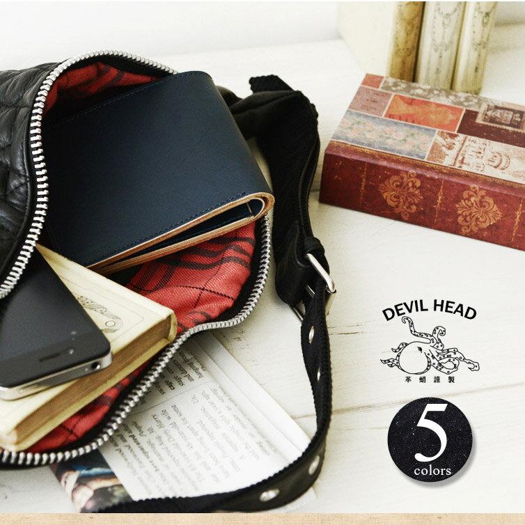 【決算セール50%OFF】【送料無料】革蛸 kawatako DEVIL HEAD デビルヘッド K-2 TYPE-O[□] スクエアーショートウォレット(小銭入れ有)二つ折り 財布 ワレット ウォレット イタリアンレザーのような日本の革 メンズ