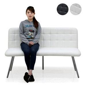 ダイニングベンチ ベンチ 長椅子 2人掛け 合皮 ホワイト ブラック 選べる2色 幅142cm 黒 白 シンプル モダン モノトーンカラー 合成皮革 送料無料