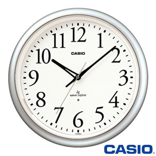 カシオ ウェーブセプター 壁掛け電波時計 1050NJ (シルバー) ◆2011年モデル