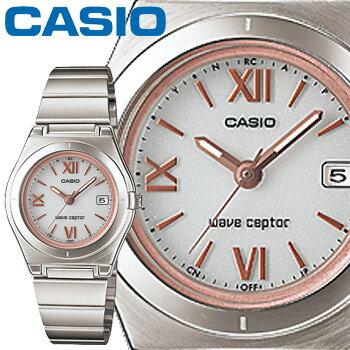 カシオ ウェーブセプター 10DJ レディース ホワイト (ローマ数字) ステンレスバンド タフソーラー 電波時計 CASIO Wave Ceptor