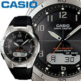 カシオ ウェーブセプター M640 メンズ ブラック (アラビア数字) 樹脂バンド マルチバンド6 ソーラー電波時計 CASIO Wave Ceptor
