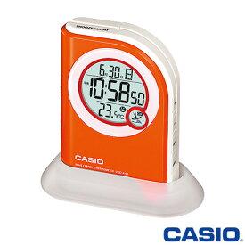 カシオ 電波置き時計 410J (オレンジ) 懐中電灯/高輝度LEDライト搭載 ◆2013年-2014年モデル