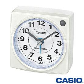 カシオ ウェーブセプター 電波置き時計 750J (ホワイト) アナログ 秒針停止機能 ◆2014年-2015年モデル