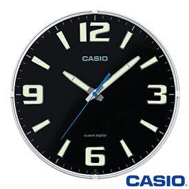 カシオ ウェーブセプター 壁掛け電波時計 1009J (ブラック) アナログ 秒針停止機能 カーブガラス仕様 ◆2014年-2015年モデル