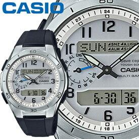 カシオ ウェーブセプター M650 メンズ ホワイト 樹脂バンド マルチバンド6 ソーラー電波時計 CASIO Wave Ceptor 2015年モデル
