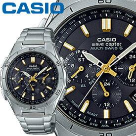 カシオ ウェーブセプター M410DE ブラック×ゴールド クロノグラフ メンズ ステンレスバンド マルチバンド6 ソーラー電波時計 CASIO Wave Ceptor