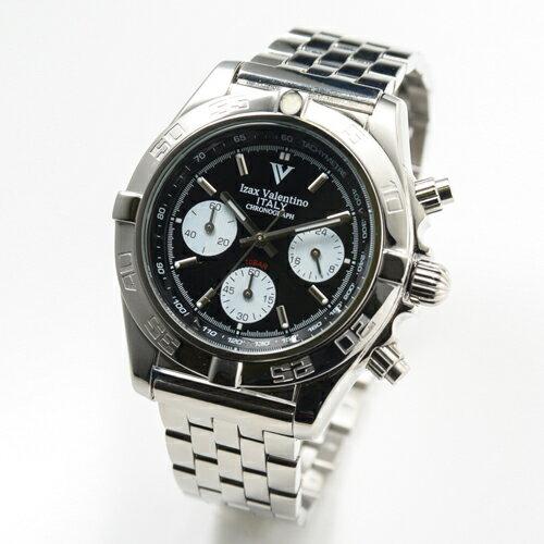 アイザックバレンチノ メンズ ウオッチ クロノグラフ 8000-3 ステンレス Izax Valentino Watch
