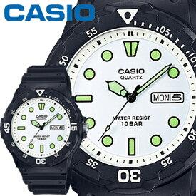 カシオ スタンダード ウオッチ 200HJ ホワイト 樹脂バンド 回転ベゼル 10気圧防水 CASIO STANDARD WATCH