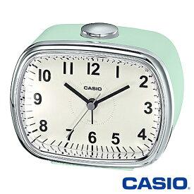 カシオ 置き時計 159 (レトログリーン) 目覚まし時計 電子音アラーム スヌーズ機能 ライト搭載