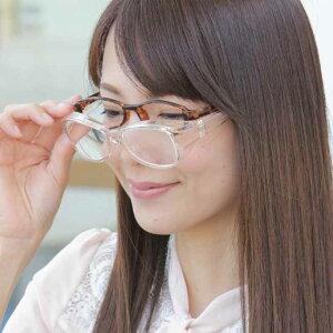 メガネ型拡大鏡 ブルーライト・紫外線カットK12379ルーペ メガネ ルーペ眼鏡 紫外線カット 両手が使える拡大鏡 メガネの上から メガネ型