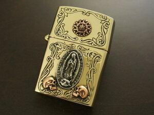 【good vibrations】【太陽神/グアダルーペの聖母/スカル】 Brass/Silver925/Copper ZIPPO オイルライター