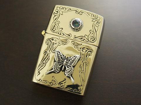 【good vibrations】【バタフライ】 Brass/Silver925/Copper/ミスティッククォーツ ZIPPO オイルライター