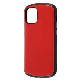 iPhone12 mini ケース iPhone 12 mini カバー ハイブリッド 耐衝撃 ケース ProCa 衝撃吸収 [ ストラップ ホール 付き ] 防塵加工 傷に強い Qi充電対応/レッド + ガラスフィルム 10H 光沢 ソーダガラス DF-P26AC3R/SCG iPhone12 mini iPhone12mini アイフォン12 ミニ