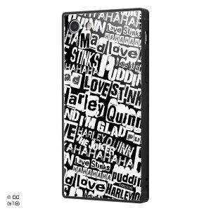 バットマン iPhone SE(第2世代)/8/7 耐衝撃ガラスケース カバー KAKU 衝撃吸収 [ ストラップ ホール 付き 通し穴 ] スクエア 軽量 かわいい オシャレ ジョーカー&ハーレー・クィン IQ-WP7K1B/BM002