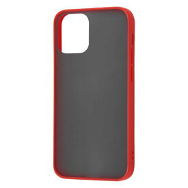 iPhone12 mini ケース iPhone 12 mini カバー 耐衝撃 マットハイブリッド ケース Sarafit 衝撃吸収 [ マット さらさら 指紋防止 ] [ ストラップ ホール 付き ] /レッド iPhone12 mini iPhone12mini アイフォン12 ミニ