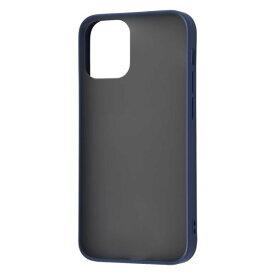 iPhone12 mini ケース iPhone 12 mini カバー 耐衝撃 マットハイブリッド ケース Sarafit 衝撃吸収 [ マット さらさら 指紋防止 ] [ ストラップ ホール 付き ] /ダークネイビー iPhone12 mini iPhone12mini アイフォン12 ミニ
