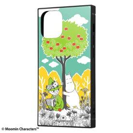 iPhone12 mini ケース iPhone 12 mini カバー ムーミン 耐衝撃 ハイブリッド ケース KAKU [ ストラップ ホール 付き ] スクエア 軽量 /コミック_3 iPhone12 mini iPhone12mini アイフォン12 ミニ