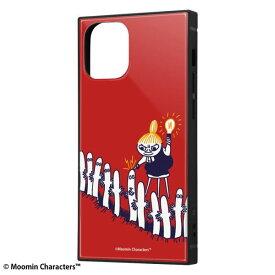 iPhone12 mini ケース iPhone 12 mini カバー ムーミン 耐衝撃 ハイブリッド ケース KAKU [ ストラップ ホール 付き ] スクエア 軽量 /リトルミイとニョロニョロ iPhone12 mini iPhone12mini アイフォン12 ミニ