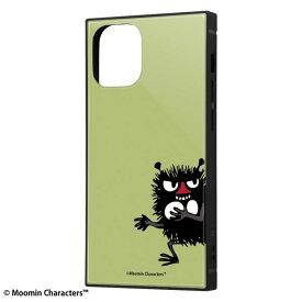 iPhone12 mini ケース iPhone 12 mini カバー ムーミン 耐衝撃 ハイブリッド ケース KAKU [ ストラップ ホール 付き ] スクエア 軽量 /スティンキー iPhone12 mini iPhone12mini アイフォン12 ミニ