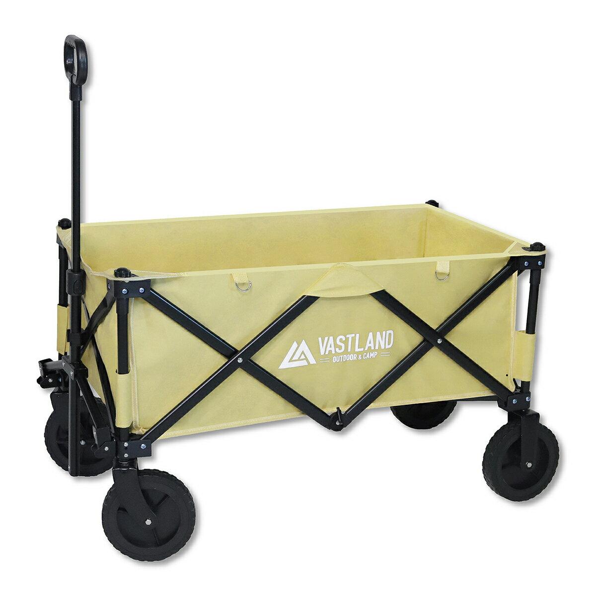アウトドアワゴン キャリーワゴン 耐荷重150kg 折りたたみ 大型タイヤ 大容量 収納カバー付き