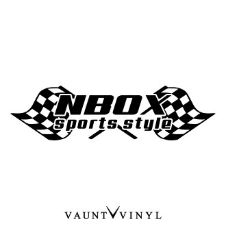 NBOX 檢查國旗的貼紙切斷字元轉移汽車貼紙密封原始洗車視窗衝浪手提箱 / 配件輪帶領消聲器航空 / 本田 Nbox N 盒 n 1 Nbox + / 10P12Oct15