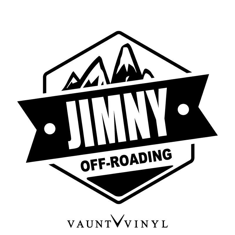 OFF ROADING JIMNY ジムニー カッティング ステッカー jb23 ja11 ja22 ホイール バンパー マフラー / ステッカー 車 シール デカール / アメリカン USDM ミリタリー ワッペン エンブレム / アウトドア キャンプ 登山 オフロード 四駆 4WD / 10P05Aug17