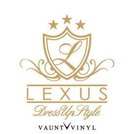 LEXUS DressUp Style カッティング ステッカー レクサス エンブレム is nx ls rx / ステッカー 車 / リア ウインドウ ウィンドウ 窓 / エンブレム ロゴ マーク / ドレスアップ チーム チューンナップ デコ デコレーション / 10P05Aug17