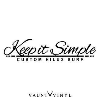 Keep it Simple Hilux Surf兔皮衝浪切斷粘紙兔皮衝浪215系統215 185 130/粘紙車shirudekaru/簡單的特別定做禮服提高後部橱窗橱窗/10P03Dec16