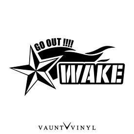 ノーティカルスター WAKE ウェイク カッティング ステッカー ウェイク パーツ シート カバー led ダイハツ / ステッカー 車 シール デカール / 星 スター 流れ星 / トライバル タトゥー ミリタリー アウトドア / 10P05Aug17