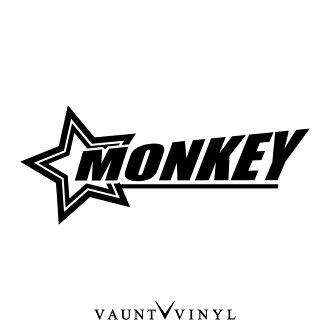 Star Monkey Sticker Monkey Monkey Parts Muffler Sheet Tank Honda Honda Sticker Bike Seal Decal Helmet Side Bag Rear Box Tune Mods Star Star
