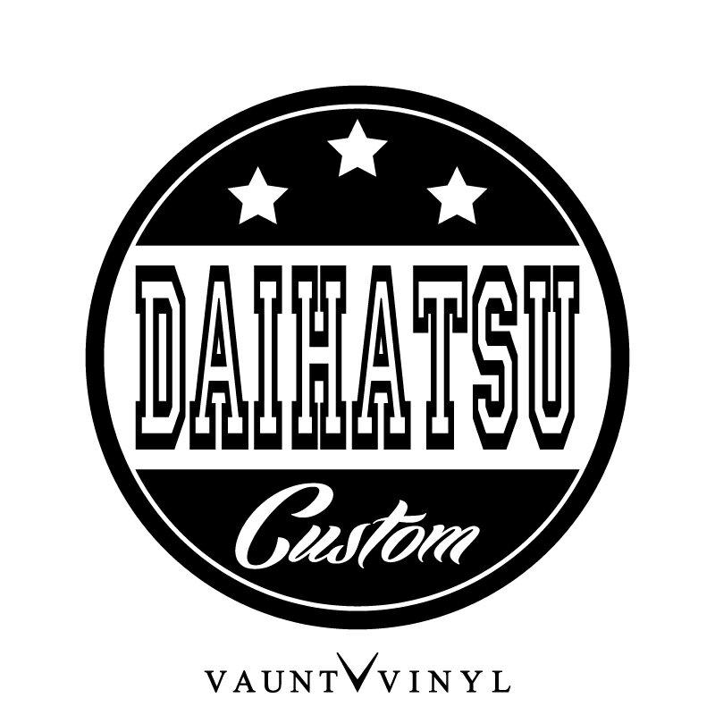 DAIHATSU CUSTOM カッティング ステッカー ダイハツ daihatsu ロゴ エンブレム パーツ / ステッカー 車 シール デカール / USDM JDM スタンス ヘラフラ キャナビート ヘラフラッシュ カスタム アメ車 アメリカン / 10P05Aug17