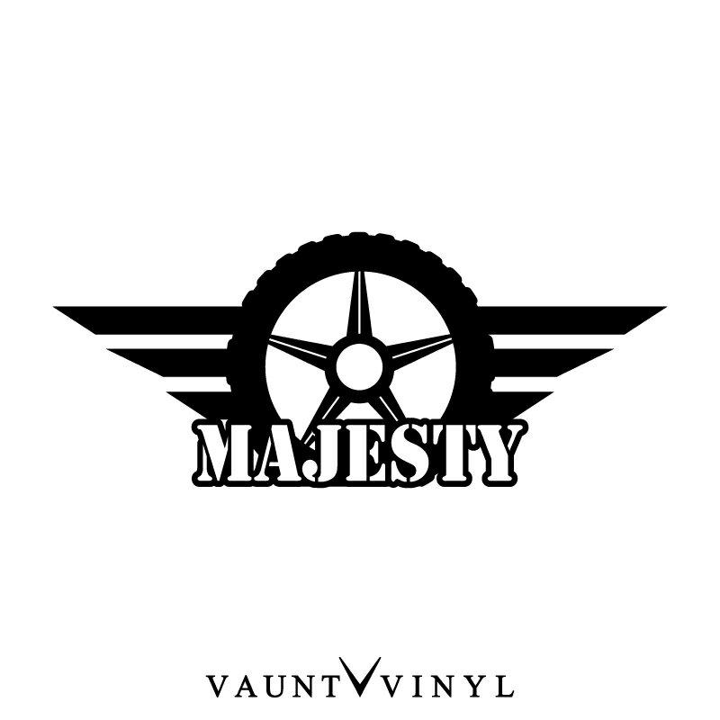 マジェスティ ステッカー マジェスティ125 マジェスティ250 マジェスティc yamaha ヤマハ / ステッカー バイク シール デカール / ヘルメット サイドバッグ リアボックス チューンナップ 改造 / タイヤ ホイール ウイング 翼 羽 / 10P05Aug17