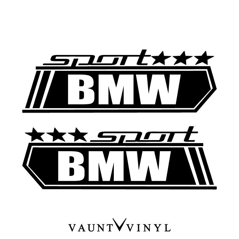 SPORTS BMW ステッカー 左右セット BMW ロゴ エンブレム パーツ / ステッカー 車 シール デカール セット / スポーツカー スポーツ カスタム 改造 パーツ 外装 / 10P05Aug17