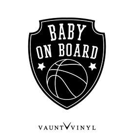 エンブレム BABY ON BOARD ステッカー バスケ バスケットボール 籠球 車 シール baby in car ベビーインカー kids in car キッズインカー 子供が乗っています 赤ちゃんが乗っています 双子 吸盤 マグネット シンプル おしゃれ オシャレ お洒落 文字