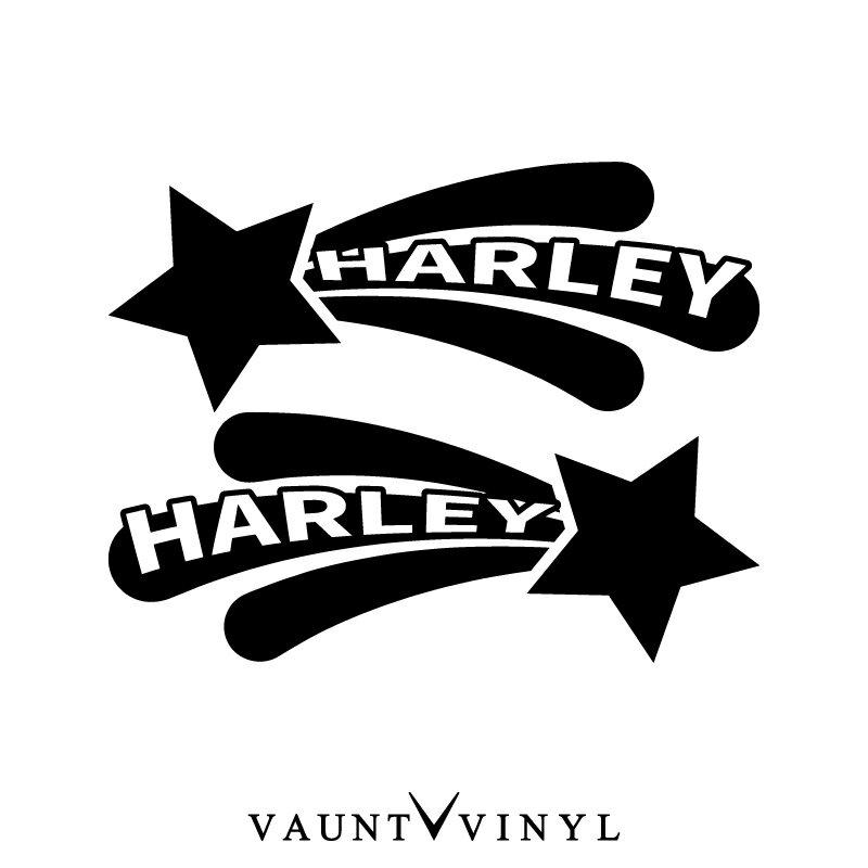 スター ハーレー ステッカー 左右セット ハーレー harley davidson ハーレーダビッドソン fxdb flstc / ステッカー バイク シール デカール ヘルメット サイドバッグ リアボックス チューンナップ 改造 星 スター 流れ星 流星