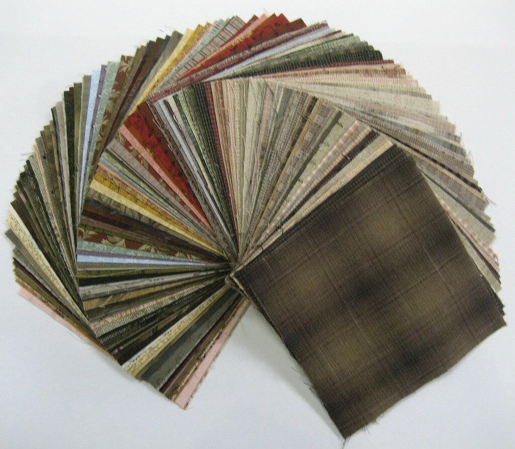 柴田明美のおまかせ先染布 ・プリント布100枚セット