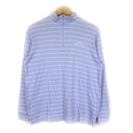 【中古】 キャロウェイ CALLAWAY ゴルフ 長袖 Tシャツ カットソー ハイネック ボーダー M 紫/3 メンズ 【ベクトル 古着】 190520