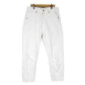【中古】ミディウミ MidiUmi ホワイトデニム テーパード ジーンズ パンツ 1 白 ホワイト/1 レディース 【ベクトル 古着】 190714 ベクトル マークスラッシュ