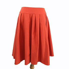 【中古】エムズグレイシー M'S GRACY ランダム プリーツ スカート フレアー ナイロン ハーフ 膝丈 40 オレンジ/s54 レディース 【ベクトル 古着】 190915 ベクトル マークスラッシュ