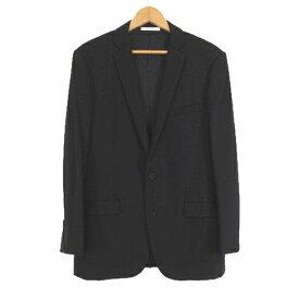 【中古】カルバンクライン プラティナム Calvin Klein PLATINUM 春夏 スーツ セットアップ ジャケット スラックス パンツ シャドーストライプ 40/32 黒 ブラック/A92 メンズ 【ベクトル 古着】 191019 ベクトル マークスラッシュ