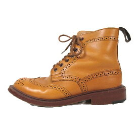 【中古】トリッカーズ TRICKER'S BROGUE BOOTS ブローグ ブーツ カントリー ウイングチップ メダリオン レザー 5 ブラウン 茶色 h5180/△N87 レディース 【ベクトル 古着】 191219 ベクトル マークスラッシュ