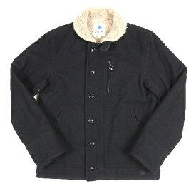 【中古】ジーディーシー GDC デッキジャケット ブルゾン ジャンパー ウール ボア 刺繍 ロゴ M 黒 ブラック M23004/5 メンズ 【ベクトル 古着】 200927 ベクトル マークスラッシュ